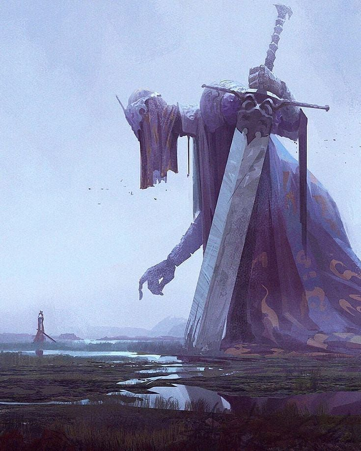 """Monsters Worls on Instagram: """"the last warrior .. tell me what name you could give him. . . . Artist: Kleiner hai"""""""