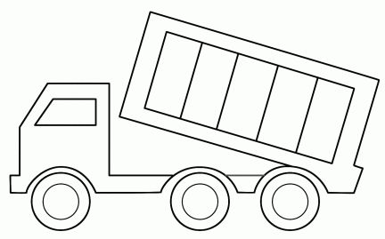 Dump Truck Truck Coloring Pages Printable Coloring Pages