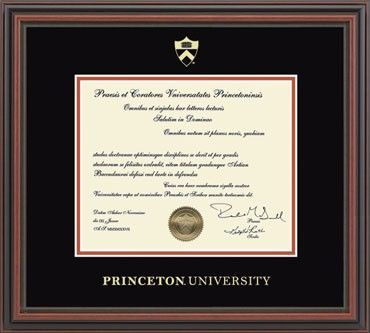 Princeton University Embossed Quot Regency Quot Diploma Frame
