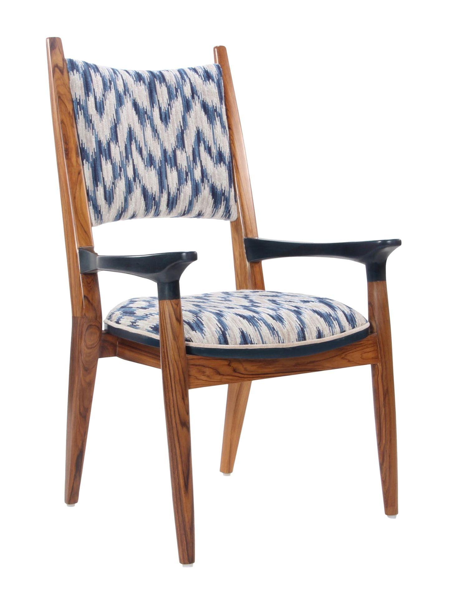 Vinil A Wooden Upholstered Chair By Alankaram Upholstered