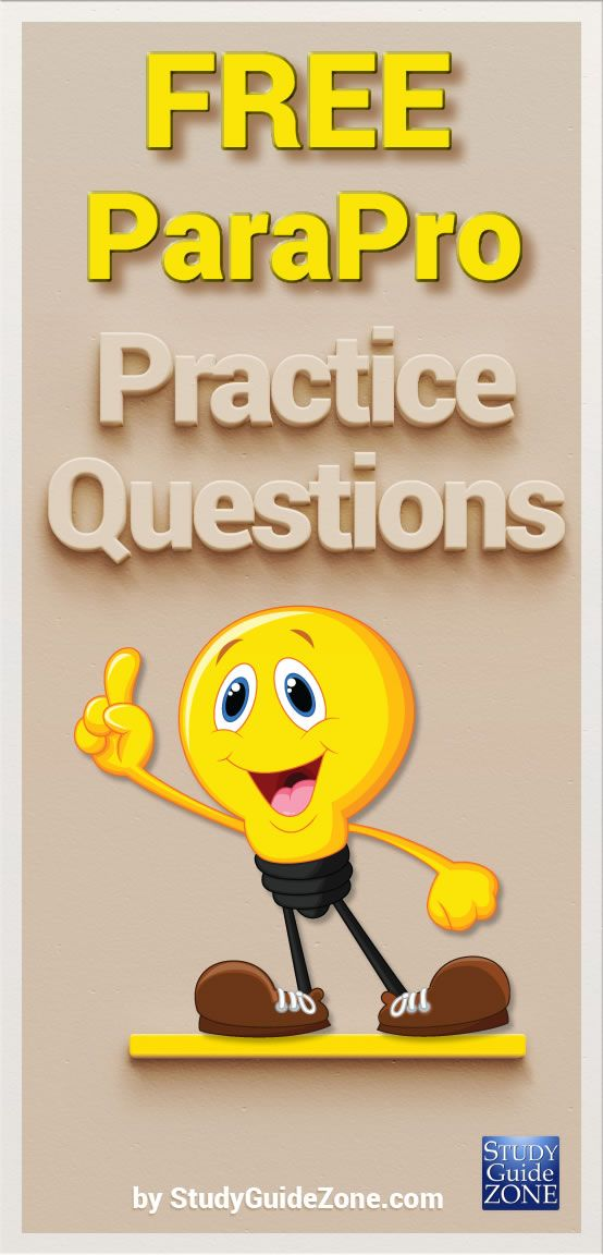 Get free ParaPro practice questions and study tips to help you ...