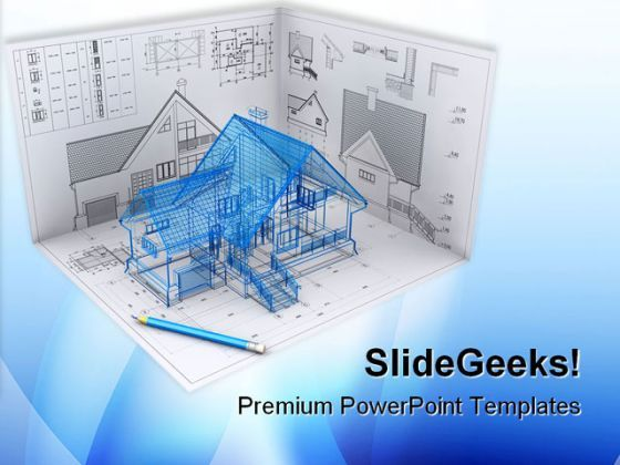 home project architecture powerpoint themes and powerpoint slides, Modern powerpoint