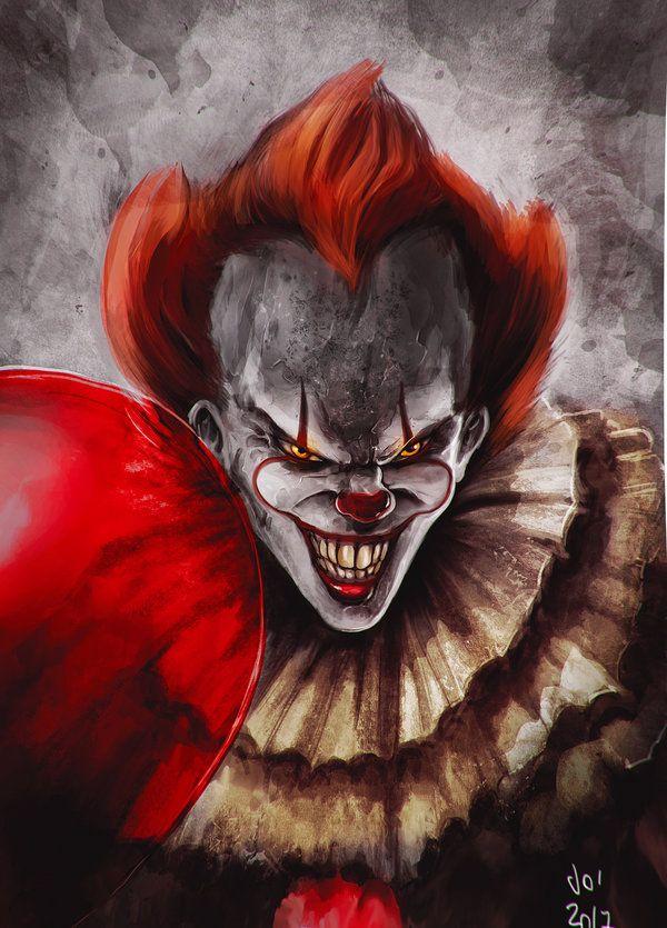 IT pennywise by elprofheta Joker mobile wallpaper