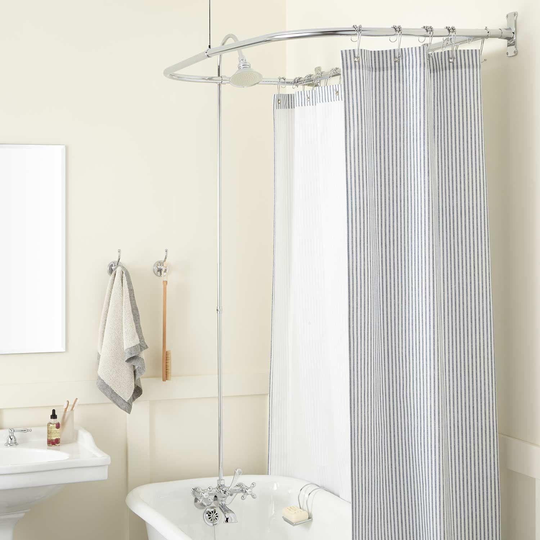 English Shower Conversion Kit In Brass Shower In Brass Cross