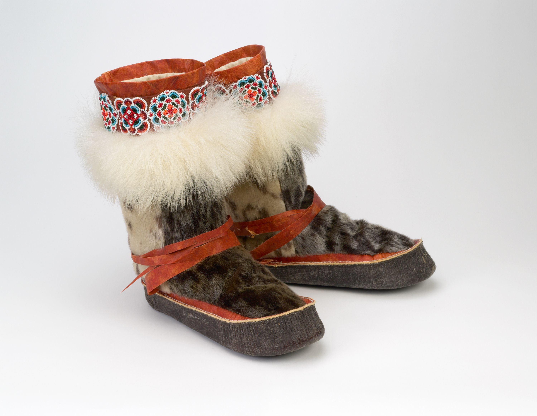 22cc10bd5 Boots (Alaskan Mukluks) made of caribou