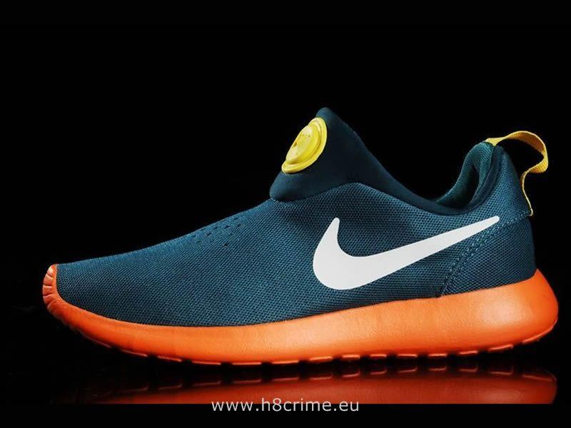 finest selection d2317 35142 Nike Roshe Run Slip On Feuilles groen foncé et geel - électrique - la glace  d oranje Nike Roshe Run Print W