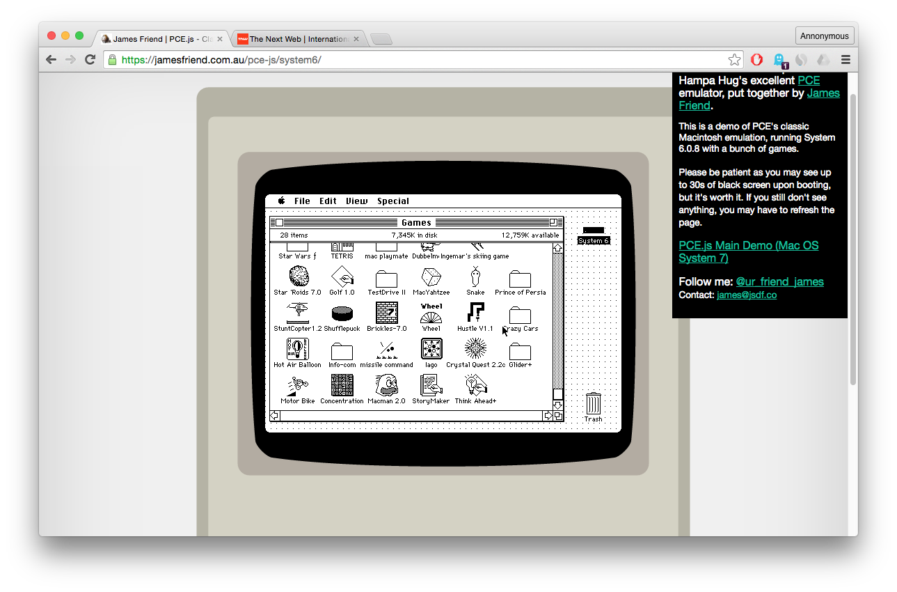 Emulator lets you run classic Macintosh OS in your browser