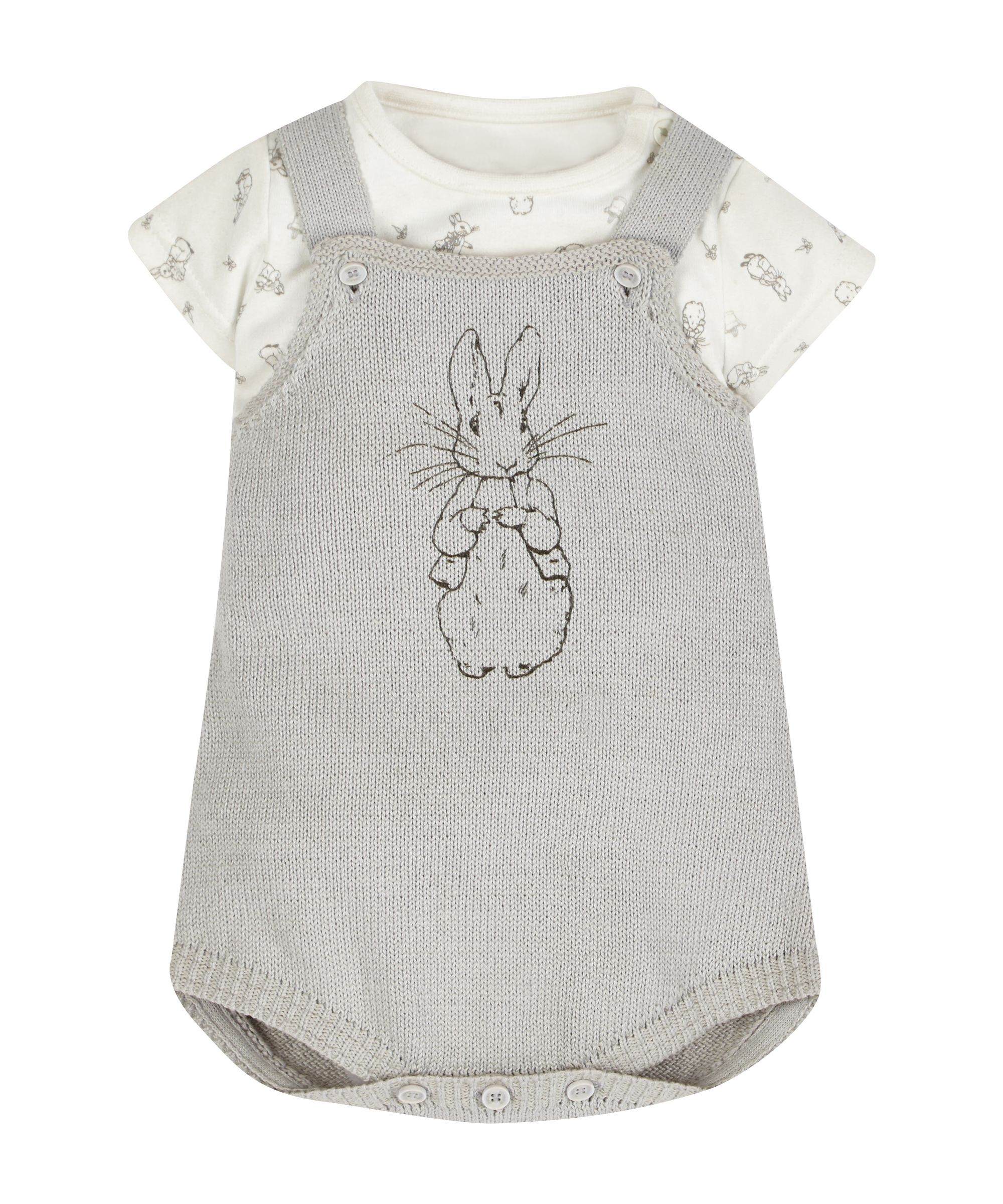 a834bb1da9eb Peter Rabbit Bodysuit and Knitted Dungarees - Mothercare 16£