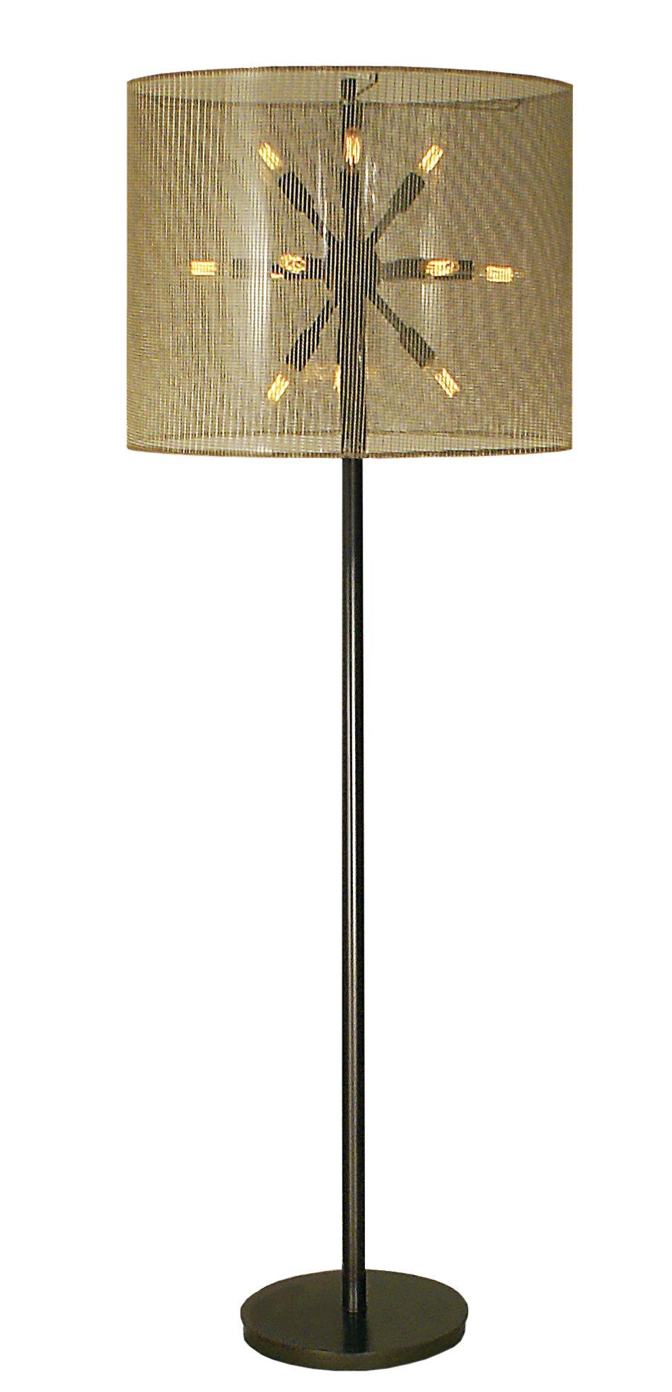 Simone Floor Lamp Made In The Usa Metal Floor Lamp With Mahogany Bronze Finish 12 Arm Cluster Shown With Nostalgic Bulbs En Floor Lamp Lamp Metal Floor Lamps