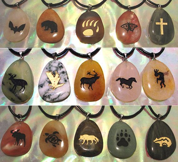 Nature's Spirit Totem Pendants by WoolyKnights on Etsy, $6.00