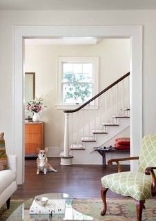 Love Love Love This Trim Around The Doorway Square Casing With Backband Interior Window Trim Moldings And Trim Traditional Staircase