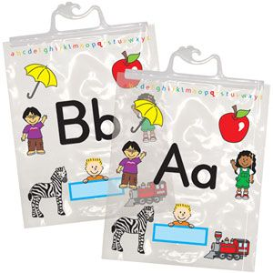 Alphabet Storage bags make it so easy to keep your letter manipulatives together to use year after year.