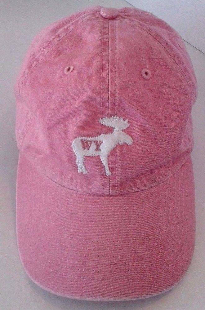 Wyoming Women s Baseball Cap Hat Adjustable Velcro Band Pink with White Elk  Logo  FahrenheitFashionHeadwear  BaseballCap c89de96cb567
