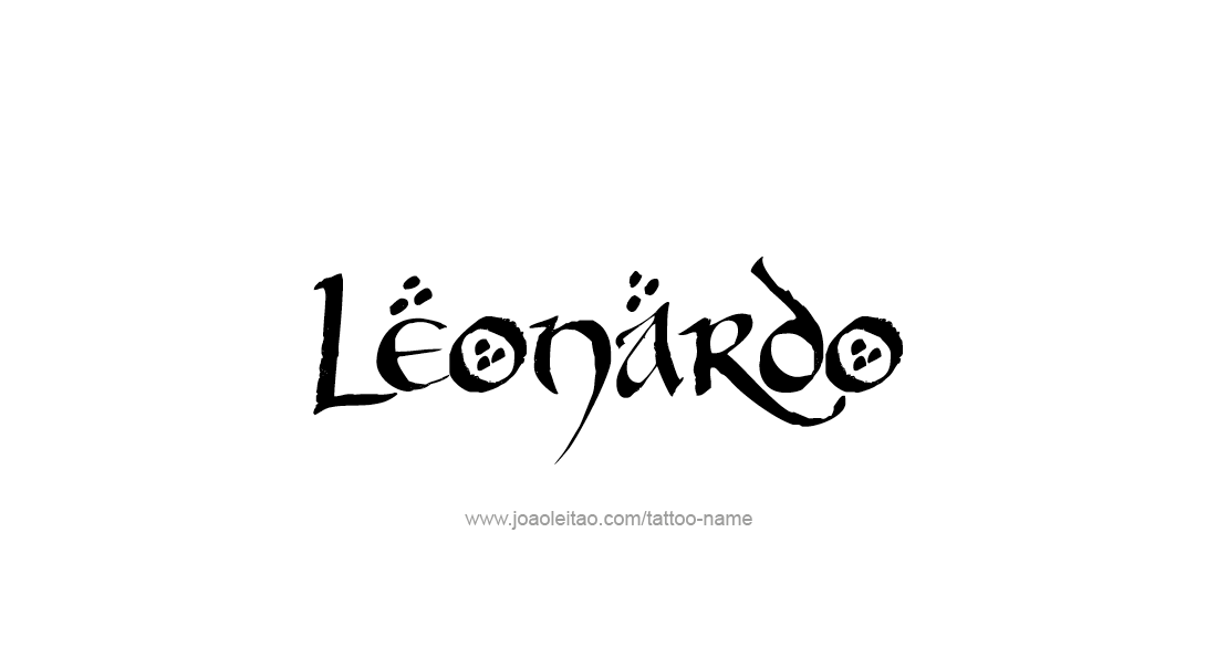 Leonardo Name Tattoo Designs Nombres Para Tu Bebe Pinterest