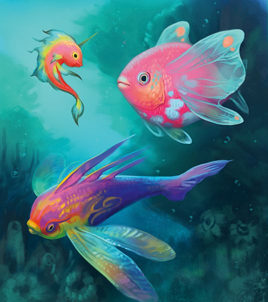 These fantasy tropical fish will inspire you to paint for 405 tropical fish