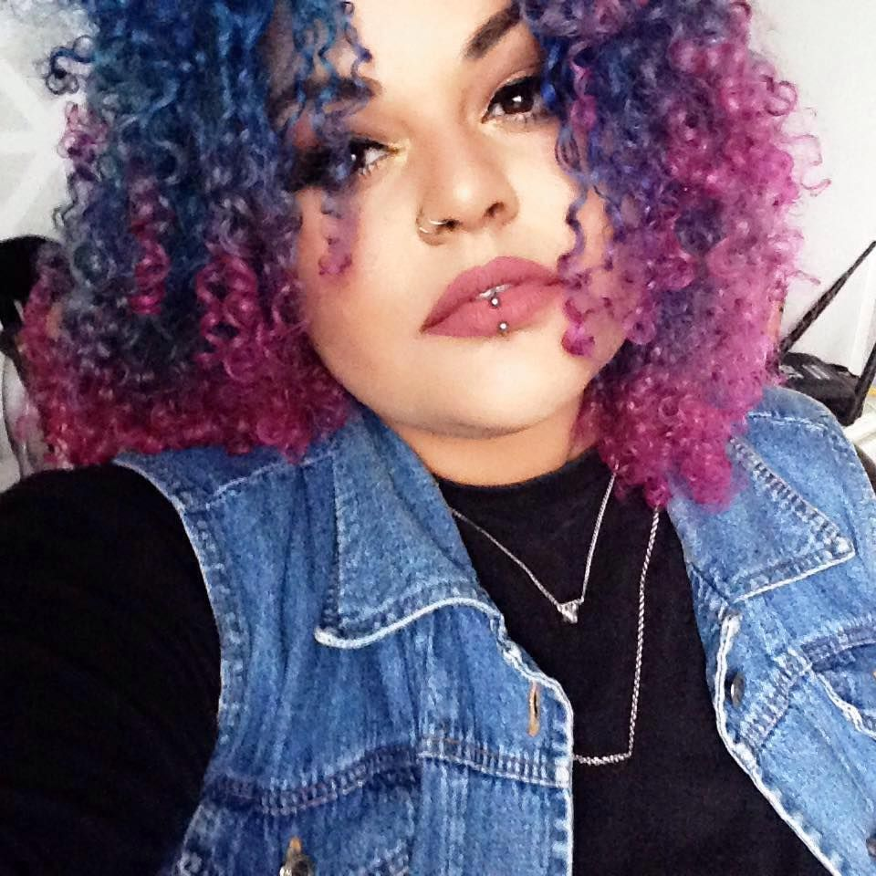 My blue and pink afro hair m e pinterest