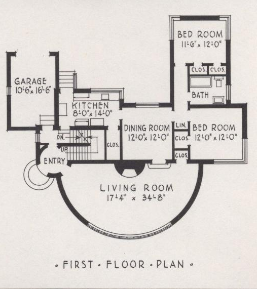 More art deco and moderne house plans including the house for Streamline moderne house plans