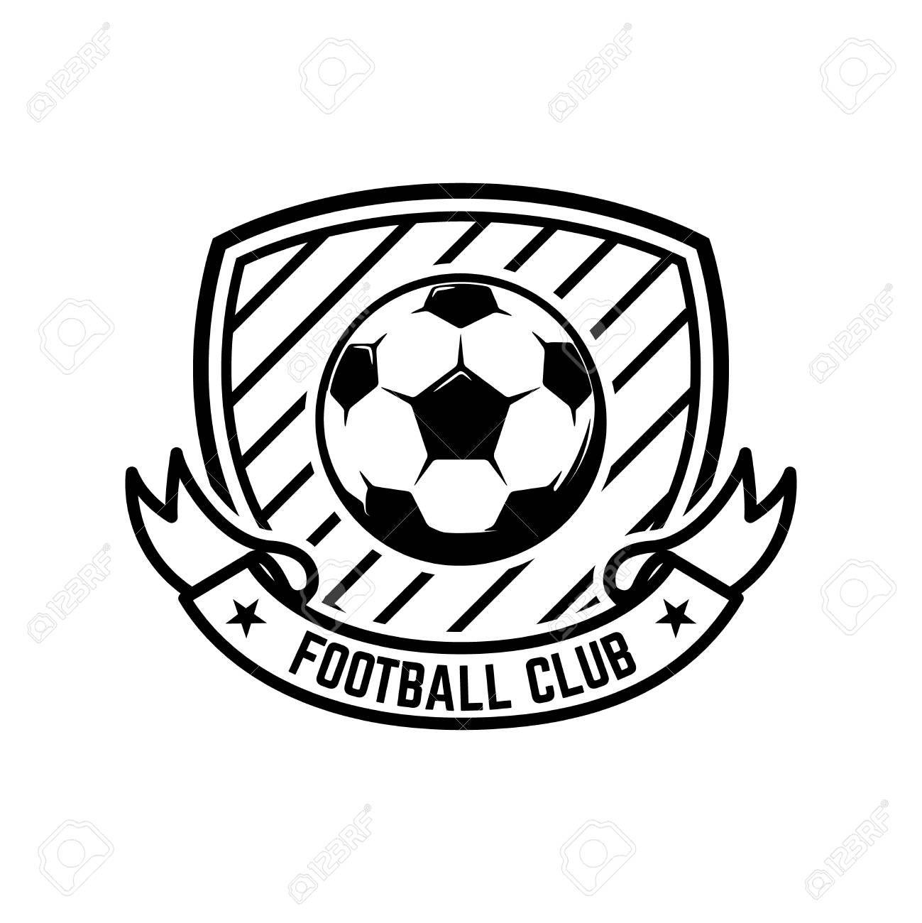 Soccer Football Emblems Design Element For Logo Label Emblem Sign Vector Illustration Aff Design El Vector Logo Design Element Vector Illustration