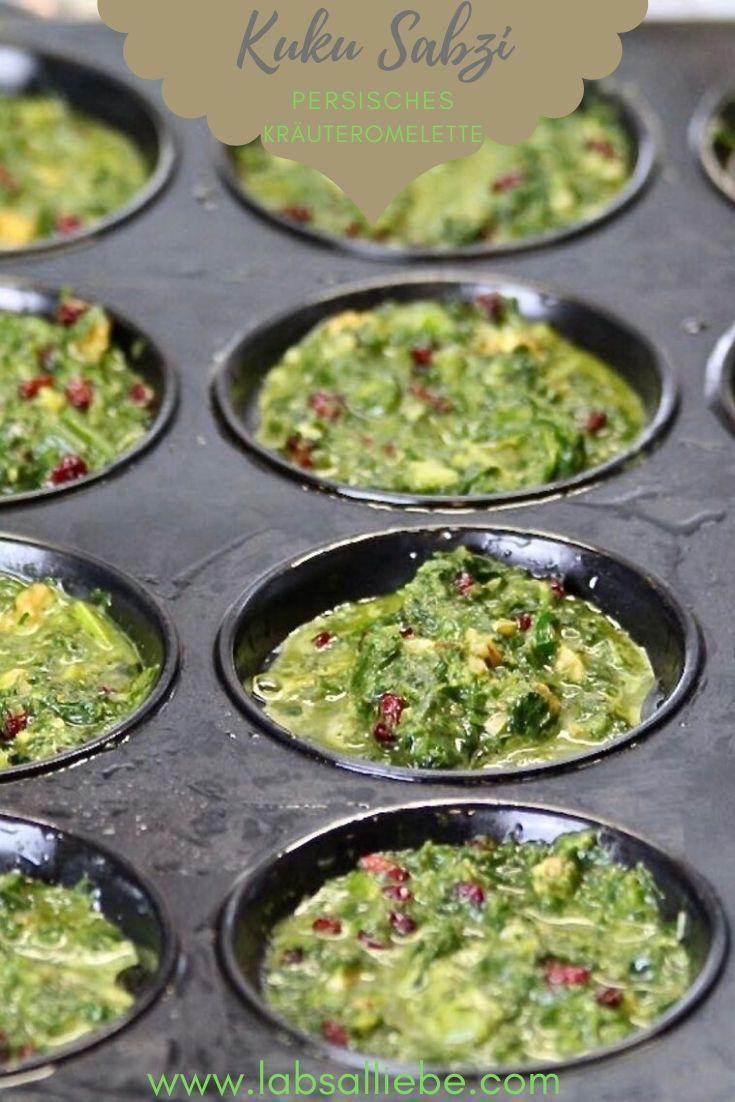 KUKU SABZI - Persisches Kräuteromelette - Labsalliebe #levanteküche