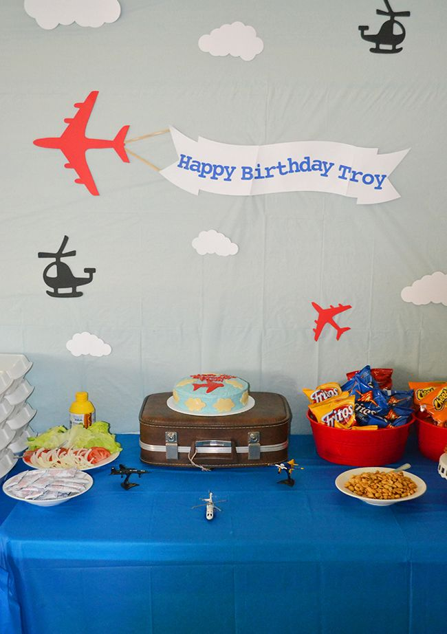 Airplane party Troy is 2 Airplanes Banners and Birthdays