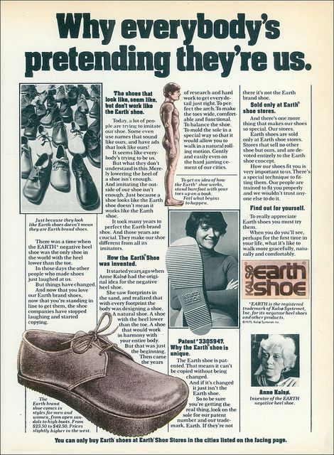 9faab2f9d73 The Original Kalsø Earth Shoe, 1975, via Flickr. | 70s Memories ...