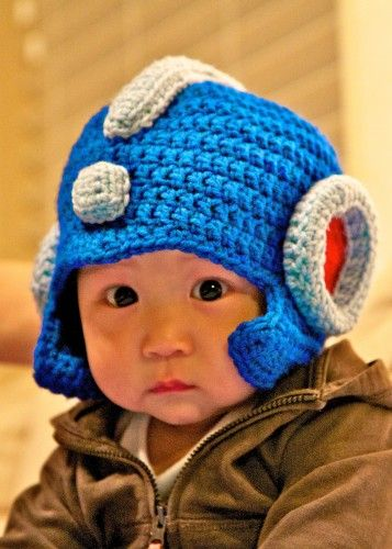 daed49c2ed9 Mega Man Rockman Earflap Helmet Hat Made to Order in All sizes