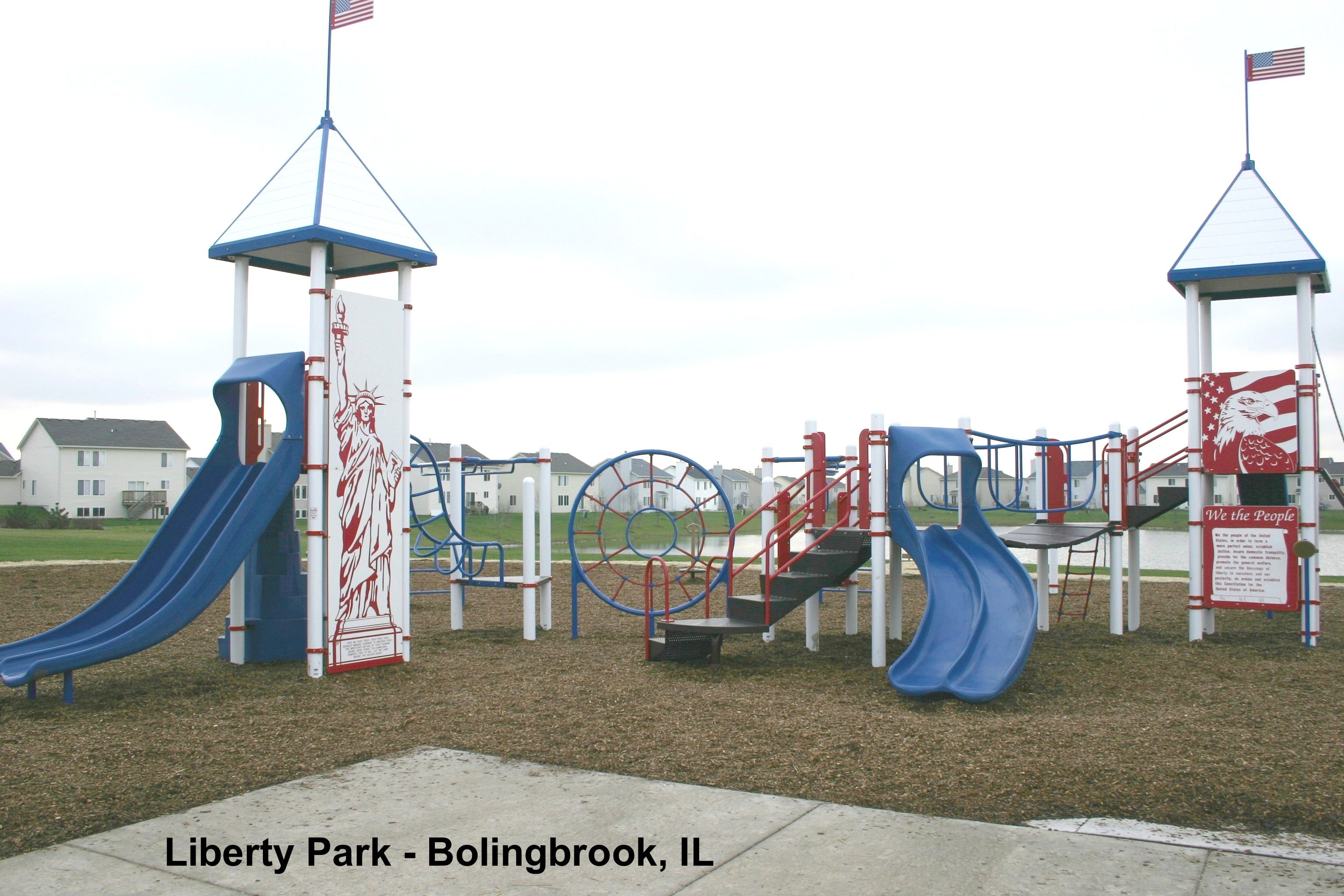 Liberty Theme Playground At Liberty Park Bolingbrook Il Outdoor Decor Playground Play Structure