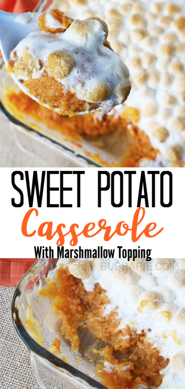 Easy Sweet Potato Casserole with Marshmallows Recipe - BubbaPie