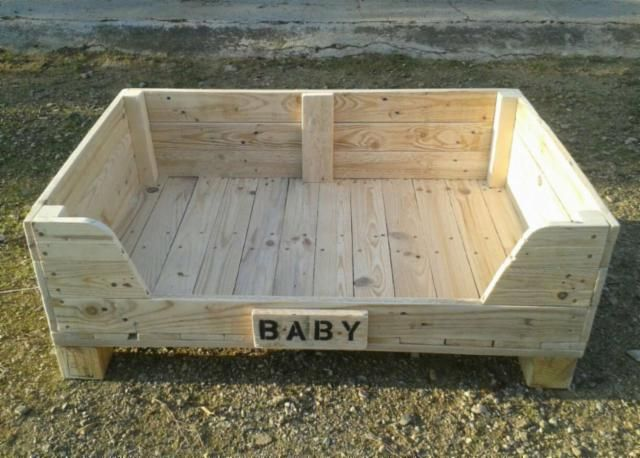 Resultado de imagen para como hacer camas de madera para for Camas para perros de madera
