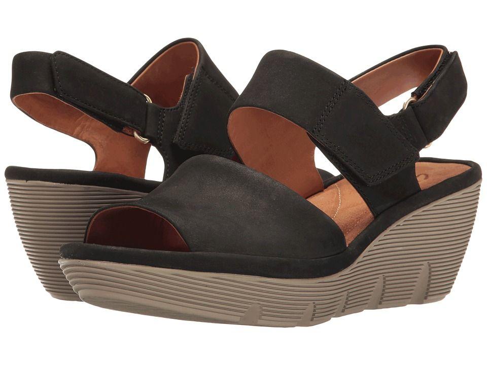 6244e88d46d CLARKS CLARKS - CLARENE ALLURE (BLACK NUBUCK) WOMEN S SANDALS.  clarks   shoes