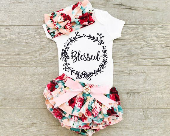 7097925b112 Newborn Girl Coming Home Outfit