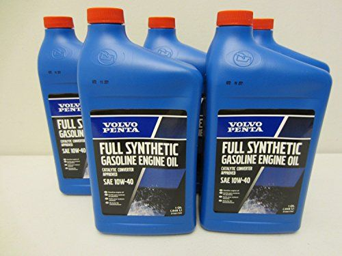Volvo Penta Oem Synthetic Engine Oil 10w40 Quart 32oz Qt 21681794 Pack Of 5 You Can Find More Details By Visiting The Image Car Oil Change Oil Change Volvo
