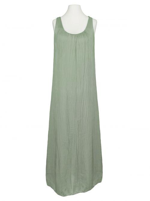 Damen Kleid lang mit Seide, khaki von Spaziodonna bei www