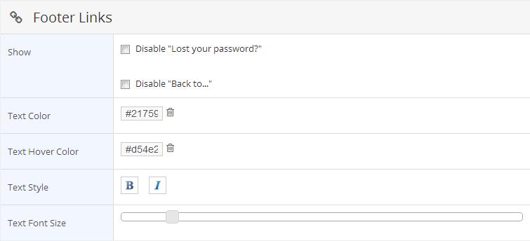 WordPress Custom Login Theme Page Error message text