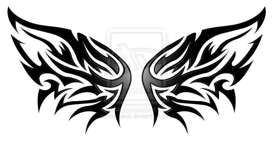 Tribal Wings Tattoo Designs Google Zoeken