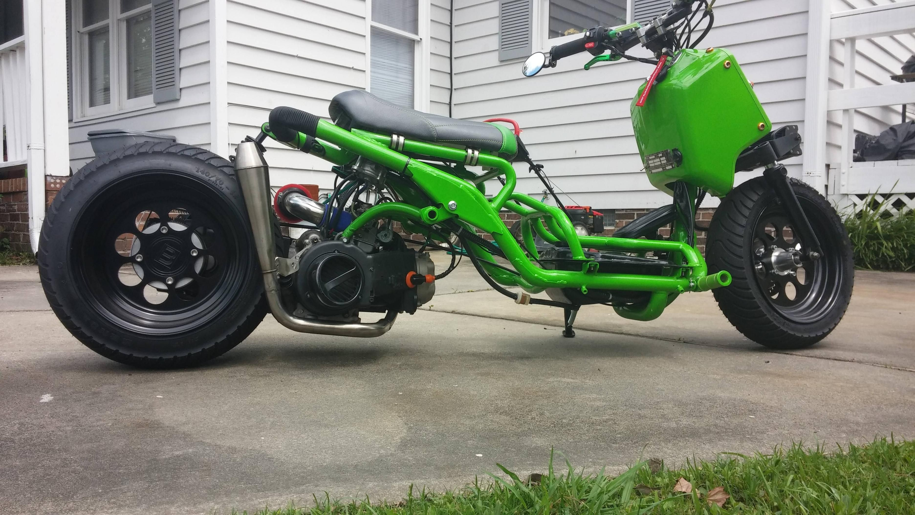 Mad Dog Ruckus Clone New Exhaust Mad Dog Scooter Bike Scooter