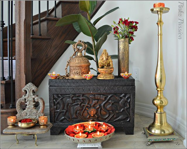 Pinkz passion festival of lights diwali decor 1 for Simple diwali home decorations