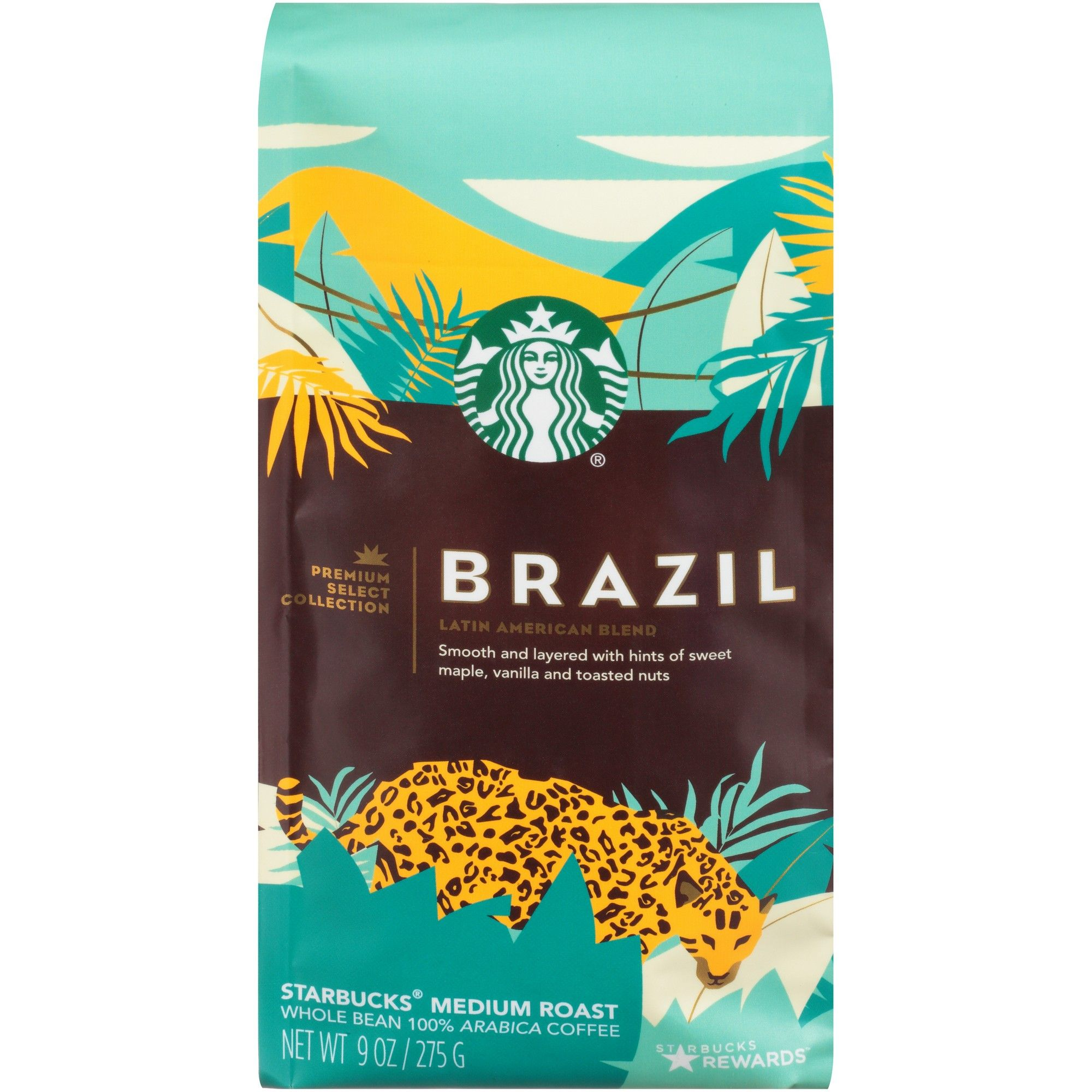 Starbucks Brazil Single Origin Medium Roast Whole Bean
