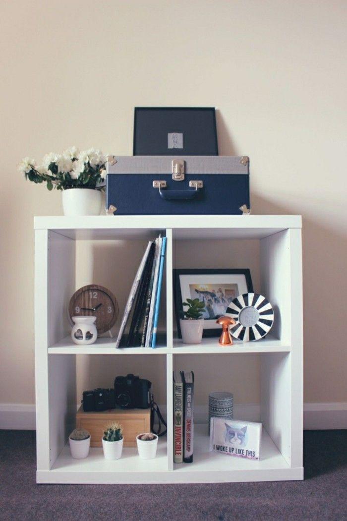 ikea regale kallax flexible vielseitigkeit zum g nstigen preis einrichtungsideen pinterest. Black Bedroom Furniture Sets. Home Design Ideas