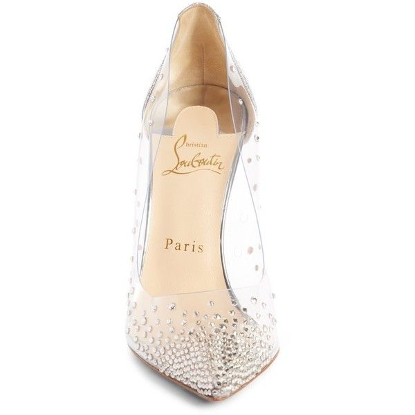 20a29ee1fd6 Women s Christian Louboutin Degrastrass Clear Embellished Pump ...