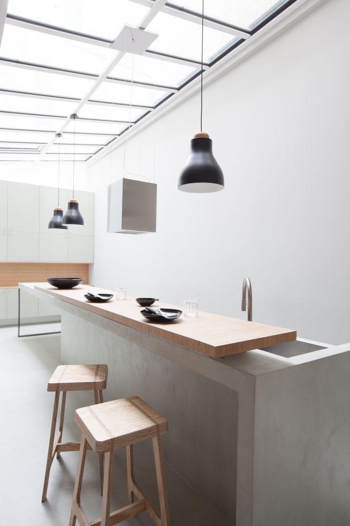 Architecture fabienne delafraye kitchen en 2019 cuisine d 39 int rieur contemporain - Muret de cuisine ...