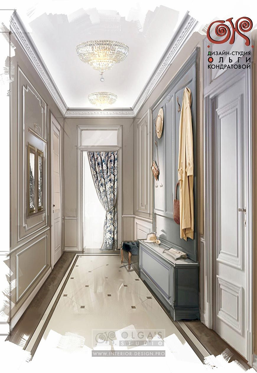 Interior Design Visualisations Of Classic And Modern Hallways And Entrance  Halls In Art Deco And Art Nouveau ...
