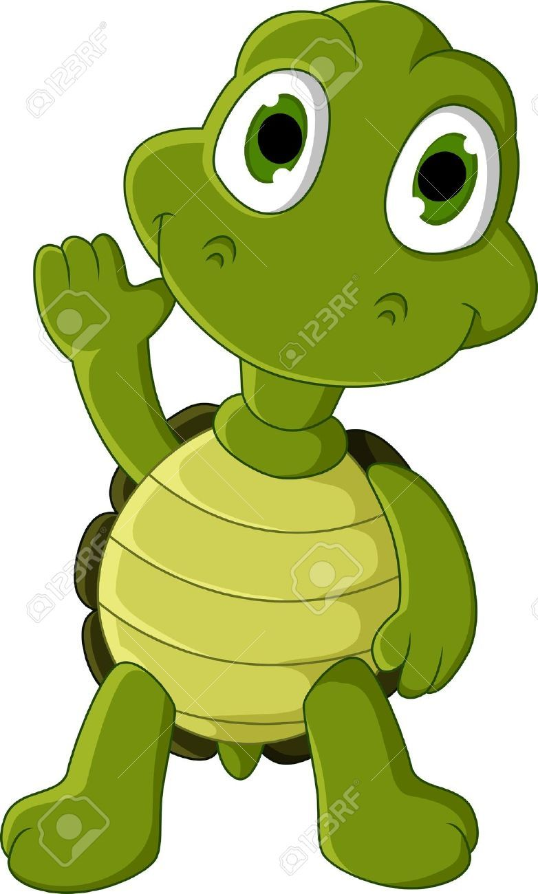 cute green turtle cartoon royalty free cliparts vectors and  [ 782 x 1300 Pixel ]