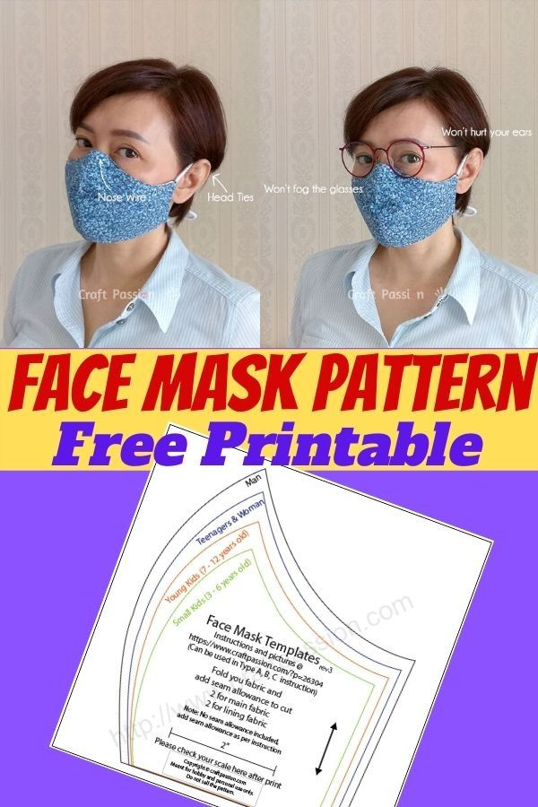Photo of Face Mask Pattern Free Printable