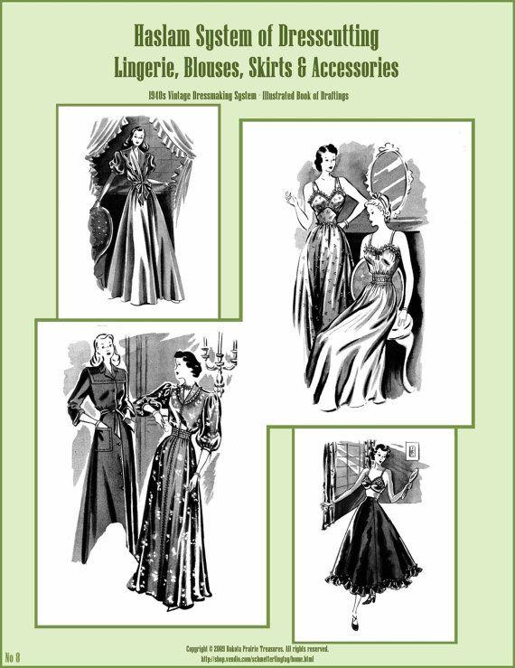 1940s 40s Haslam Draft Pattern Making Book No: 9 (Sewing Drafting ...