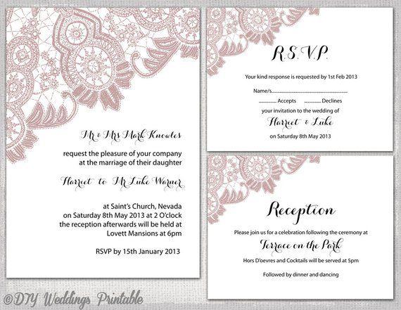 wedding reception invitations templates