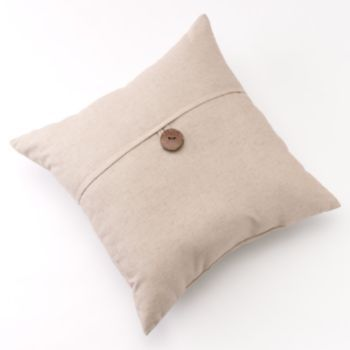 Linen Button Decorative Pillow 20 Quot X 20 Quot Decorative