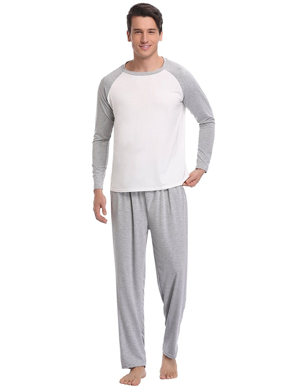 Mens Leisure Wear Pyjamas Top And Bottom Set New Stylish Night Clothes