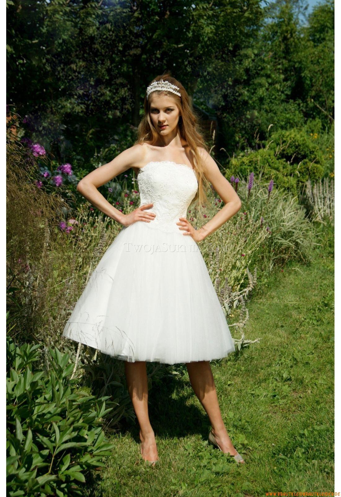 Ohne Ärmel Designer Kurze Brautkleider aus Softnetz ...