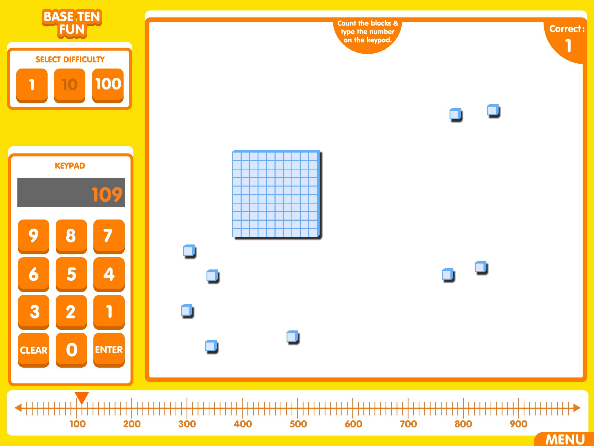Base Ten Fun A Simple App Used For Reinforcing Place